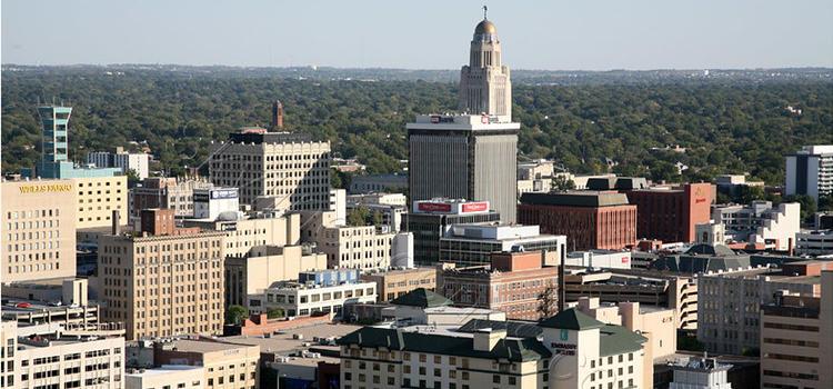 downtown Lincoln, Nebraska